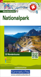 Wandelkaart Nationalpark Schweiz  | Hallwag Nr. 16 Touren-Wanderkarte | 1:50 000 | ISBN 9783828309746