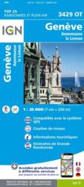 Wandelkaart Geneve,  Annemasse, Le Leman - Jura | IGN 3429 OT - IGN 3429OT
