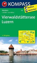 Wandelkaart Vierwoudstedenmeer - Vierwaldstätter See | Luzern |  Kompass 116 | 1:50.000 | ISBN 9783850269681