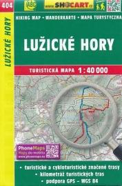 Wandelkaart Tsjechië -  Lužické hory | Shocart 404 | ISBN 9788072246823