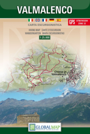 Wandelkaart Valmalenco - Sondrio - Lombardije | Global Map | 1:25.000 | ISBN 9788879145039
