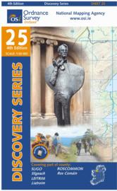 Wandelkaart Ordnance Survey / Discovery series | Sligo/ Leitrim/ Roscommon 25 | ISBN 9781907122484