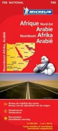 Wegenkaart Afrika Noordoost | Michelin 745 | 1:4 miljoen | ISBN 9782067172449