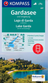 Wandelkaart Gardasee und Umgebung - Lago di Garda | Kompass 697 | 3-delige set ! 1:35.000 | ISBN 9783990443095