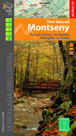 Wandelkaart Montseny Parc Natural  | Editorial Alpina | Gebied ten NO van Barcelona | 1:25.000 | ISBN 9788480908474