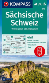 Wandelkaart  Sächsische Schweiz | 1:50.000 | Kompass 810 | ISBN 9783990447499
