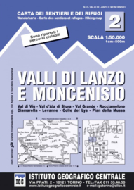 Wandelkaart Valli di Lanzo e Moncenisio | IGC nr. 2 | 1:50.000 | ISBN 9788896455029