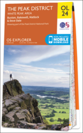 Wandelkaart The Peak district-White Peak Area | Explorer Maps OL24 | Ordnance Survey | 1:25.000 |  ISBN 9780319263846