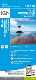 Wandelkaart Ile de Noimoutier, Beauvoir-sur-Mer & Bourgneuf-en-Ret | IGN 1125OT – IGN 1125 OT | ISBN 9782758542599