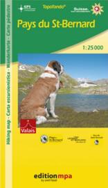 Wandelkaart Pays du St-Bernard | Edition mpa | 1:25.000 | ISBN 9783905706581