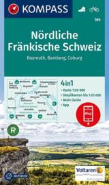 Wandelkaart Nördliche Fränkische Schweiz | Kompass 165 | 1:50.000 | ISBN 9783990442630