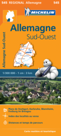 Wegenkaart Duitsland Zuid West | 545 Michelin | 1:300.000 | ISBN 9782067183643