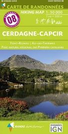 Wandelkaart Cerdagne Capcir - Haute Ariege - Les Angles (Frankrijk - Pyreneeen) | Rando Editions 08 | ISBN 9782344013373