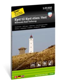 Wandelkaart Von Küste zu Küste - Westlicher Teil | Calazo Outdoormaps Serie - Calazo Förlag Dänemark | 1:25.000 | ISBN 9789188779885