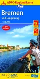 Fietskaart Bremen und Umgebung   BVA-ADFC-Regionalkarte   1:75 000   ISBN 9783969900154