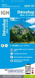Wandelkaart Devoluy, Obiou & Pic de Bure | NP Ecrins | IGN 3337 OT - IGN 3337OT | ISBN 9782758539919