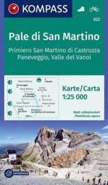Wandelkaart Pale di San Martino - Fiera di Primiero | Kompass 622 | 1:25.000 | ISBN 9783990444559