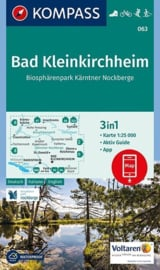 Wandelkaart Bad Kleinkirchheim - Nationalpark Nockberge | Kompass 063 | 1:25.000 | ISBN 9783990443170