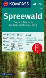 Wandelkaart Kompass Spreewald | Kompass 748 | 1:50.000 | ISBN 9783990449264
