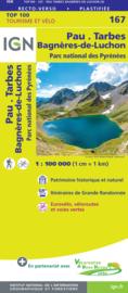 Wegenkaart - fietskaart Pau - Bagneres de Luchon - Tarbes - Lourdes - Pyreneeën | IGN 167 | ISBN 9782758547754