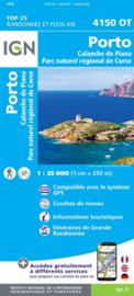 Wandelkaart Porto, Calanche du Piana, Evisa, PNR de la Corse |  Corsica -  IGN 4150OT - 4150 OT