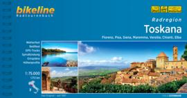 Fietsgids Toscane - Radatlas Toskana - 1735 km. | Bikeline | ISBN 9783850000499