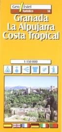 Auto - Fietskaart Granada - Costa Tropical | GeoEstel No. T014 | 1:150.000 | ISBN 9788495788368