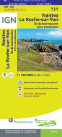 Wegenkaart - Fietskaart Nantes - La-Roche-Sur-Yon | IGN 131 | ISBN 9782758547556