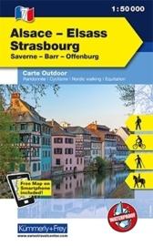 Wandelkaart Elsass - Strasbourg  | Kümmerly & Frey 07 | 1:50.000 | ISBN 9783259007310