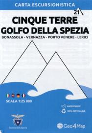 Wandelkaart Cinque Terre - Golfo della Spezia | Geo4Map 21 | 1:25.000 | ISBN 9788899606152