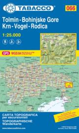 Wandelkaart Tolmin / Bohinjske Gore / Krn / Vogel / Rodica | Tabacco 66 | 1:25.000 | ISBN 9788883151125