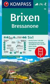 Wandelkaart Brixen - Bressanone | Kompass 56 | 1:50.000 | ISBN 9783990447420