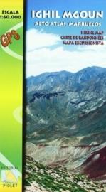 Wandelkaart Ighil Mgoun M'Goun- Marokko | Piolet | 1:60.000 | ISBN 9788415075349