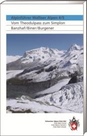 Alpinegids Alpinführer Walliser Alpen 4-5 Vom Theodulpass zum Simplon | SAC | ISBN 9783859022904