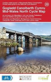 Fietskaart Wales centraal noord - Mid Wales North Cycle Map 023 | Sustrans | ISBN 9781900623421