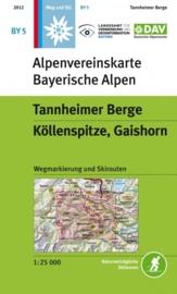 Wandelkaart Tannheimer Berge - Köllenspitze, Gaishorn | DAV BY5 | ISBN 9783937530451