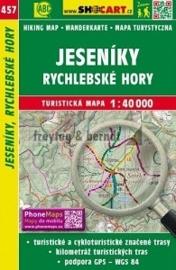 Wandelkaart  Tsjechië - Jeseníky, Rychlebské hory | Shocart  457 | ISBN 9788072247356