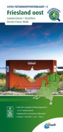 Fietskaart Friesland Oost   ANWB 03   1:100.000   ISBN 9789018046767