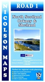 Wegenkaart North Scotland, Shetland & Orkney | Nicolson 01 | 1:250.000 - 400.000 | ISBN 9781912046607