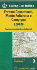 Wandelkaart Foreste Casentinesi, Monte Falterona e Campigna | 1:50.000 | TCI 3 | ISBN 9788836572113