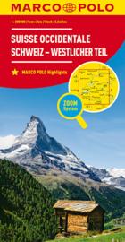 Wegenkaart - Fietskaart Zwitserland West | Marco Polo | 1:200.000 | ISBN 9783829740784