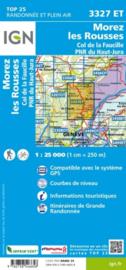 Wandelkaart Morez, les Rousses, Col de la Faucille, Gex. Jura | IGN 3327 ET - IGN 3327ET | ISBN 9782758546658
