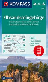 Wandelkaart  Elbsandsteingebirge, NP Sächsische Schweiz, NP Böhmische Schweiz | 1:50.000 | Kompass 761 | ISBN 9783991210719