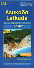 Wandelkaart Lefkada | Road Editions 303 | 1:40.000 | ISBN 9789605810450