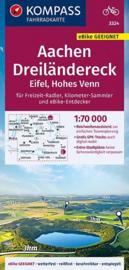Fietskaart Aachen - Dreiländereck | Kompass 3324 | 1:70.000 | ISBN 9783990446720