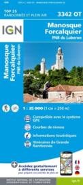 Wandelkaart Forcalquier, Manosque, Volx, Ste.-Tulle, PNR de Luberon | Vaucluse - Drome |  IGN 3342OT - IGN 3342 OT | 1:25.000 | ISBN 9782758539940