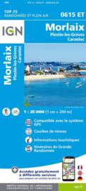 Wandelkaart Morlaix, Lanmeur, Plougasnou, Taule, Plestin-les-Greves | IGN 0615ET - 0615 ET | Bretagne