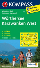 Wandelkaart Wörthersee -Karawanken West | Kompass 61 | 1:50.000 | ISBN 9783850267069