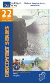 Wandelkaart Ordnance Survey / Discovery series | Mayo 22 | ISBN 9781908852427