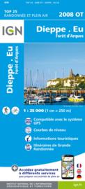 Wandelkaart Dieppe – Envermeu – Fresnoy – Folny | Normandië | IGN 2008 OT – IGN 2008OT  | ISBN 9782758536123